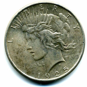 1925P MS/BU PEACE 90 SILVER DOLLAR UNC/CH UNCIRCULATED MINT STATE US$1 COIN3109