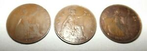 GREAT BRITAIN   1920 ONE  1  PENNY & 1935 ONE  1  PENNY & 1947 ONE  1  PENNY