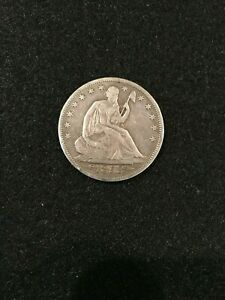 1853 SEATED LIBERTY HALF DOLLAR W/ RAYS AND ARROWS