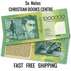 5 X NED KELLY   ONE MILLION DOLLAR NOTE  NEW