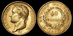 FRANCE : 1812A NAPOLEON I 40 FRANCS. GOLD. KM 696.1
