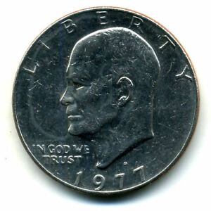 NICE 1977 D EISENHOWER DOLLAR CHOICE BRILLIANT UNCIRCULATED MINT STATE COIN4638