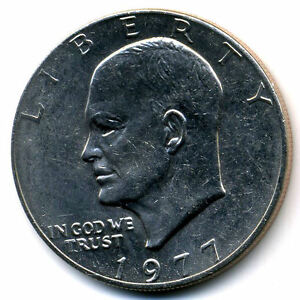 NICE 1977 P EISENHOWER DOLLAR CHOICE BRILLIANT UNCIRCULATED MINT STATE COIN3318