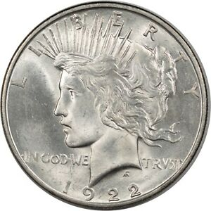 1922 D PEACE DOLLAR   BU   AND ALMOST CHOICE