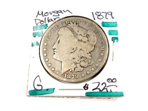1879  U.S.  MORGAN SILVER DOLLAR   G    1876