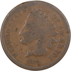 1873 OPEN INDIAN CENT   DECENT EXAMPLE W/ MINOR ISSUE STRONG DETAILS