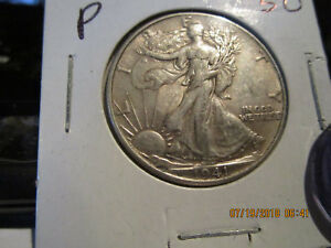 1941 P WALKING LIBERTY HALF  AU
