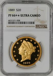 Click now to see the BUY IT NOW Price! 1889 $20 GOLD LIBERTY PF66   ULTRA CAMEO PR66   NGC  941784 1