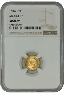 Click now to see the BUY IT NOW Price! 1916 $ GOLD MCKINLEY DOLLAR MS67  NGC 942024 3