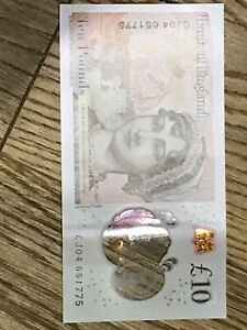 Click now to see the BUY IT NOW Price! 10 POUNDS NOTE JANE AUSTEN  BIRTH YEAR 1775 ON SERIAL NUMBER.