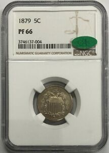 1879 5C GEM  SHIELD NICKEL   NGC PF66  CAC