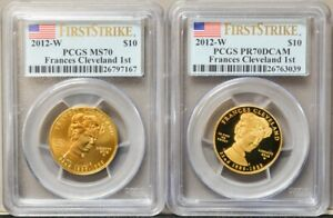 Click now to see the BUY IT NOW Price! 2012 W $10 FRANCES CLEVELAND 1ST 2PC SET SPOUSE MS70 PR70 DCAM FIRST STRIKE PCGS