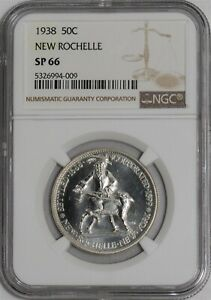 Click now to see the BUY IT NOW Price! 1938 NEW ROCHELLE 50C SP66 NGC 939099 6