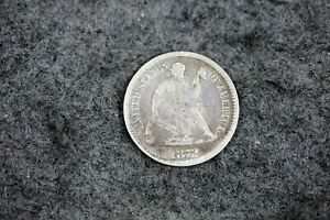 ESTATE FIND 1872    LOVE TOKEN  SEATED LIBERTY HALF DIME   J09145