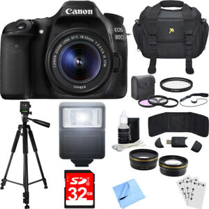 CANON EOS 80D BUILT IN WI FI & NFC BODY DSLR CAMERA EF S 18 55MM IS STM LENS