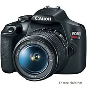 CANON EOS REBEL 2727C002 DIGITAL SLR CAMERA WITH LENS 18 MM TO 55 MM  LENS 1