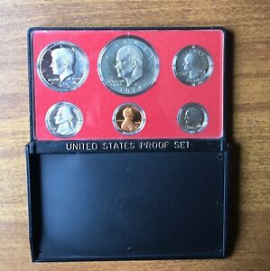 1974 S US PROOF SET WITH PLASTIC HOLDER NO CARDBOARD BOX