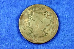 ESTATE FIND 1842   BRAIDED HAIR LARGE CENT    H11776