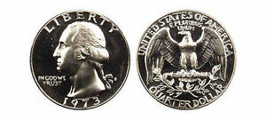 1973 S GEM BU PROOF WASHINGTON QUARTER BRILLIANT UNCIRCULATED 25 CENT COIN PF