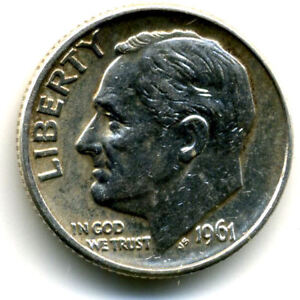 1961 D ROOSEVELT DIME SILVER 10 CENT SHARP ABOVE AVERAGE DETAIL NICE COIN4753