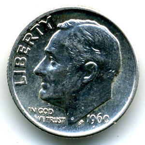 1960P CH BU ROOSEVELT DIME SILVER 10 CENT SHARP BRILLIANT UNCIRCULATED COIN3358