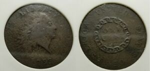 1793 CHAIN CENT 1C  S 3 ANACS VG10 PROBLEM FREE