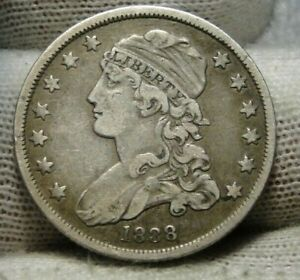 1838 CAPPED BUST QUARTER 25 CENTS   NICE COIN .  9340