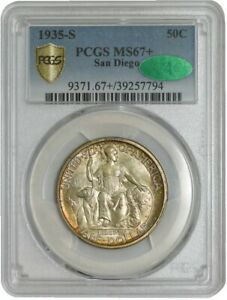 Click now to see the BUY IT NOW Price! 1935 S SAN DIEGO 50C MS67  SECURE PLUS PCGS   CAC 937755 110