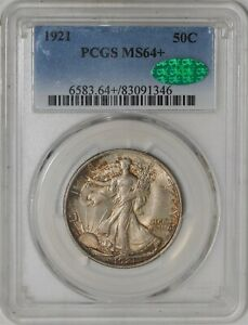 Click now to see the BUY IT NOW Price! 1921 WALKING LIBERTY HALF 50C MS64  PCGS   CAC  941722 3