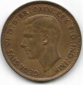 AUSTRALIA 1938 ONE PENNY COINS   XF/AU CONDITION  $8 BOOK PRICE   FREE SHIP