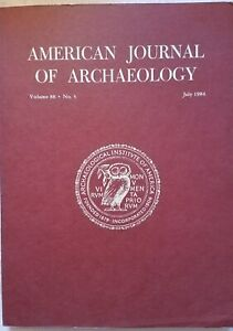 AMERICAN ARCHAEOLOGY JOURNAL JULY 1984 ANCIENT GREEK COINS ATHENS AEGINA CYPRUS