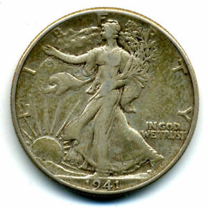 1941 P WALKING LIBERTY HALF DOLLAR KEY DATE SILVER 50 CENT FACE COIN U.S 103172