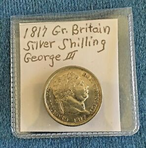 1817 GREAT BRITAIN GEORGE III SILVER SHILLING