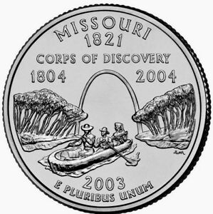 2003 D MISSOURI STATE QUARTER BU COIN FINISH YOUR COIN BOOK. 6159