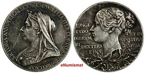 GREAT BRITAIN VICTORIA SILVER 1897 MEDAL DIAMOND JUBILEE NICE TONED EIMER 1817B