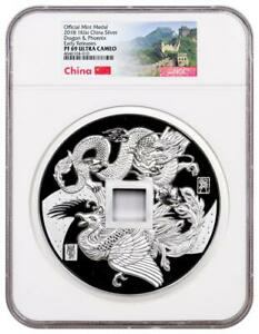 Click now to see the BUY IT NOW Price! 2018 CHINA DRAGON & PHOENIX KILO SILVER CHINA PROOF NGC PF69 UC EXCLUSIVE LABEL
