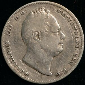 SIXPENCE WILLIAM IV 1834 .925 SILVER  T33