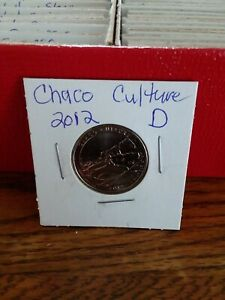 NATIONAL PARK QUARTER CHACO CULTURE 2012 DENVER MINT UNCIRCULATED