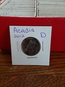 NATIONAL PARK QUARTER ACADIA 2012 DENVER MINT UNCIRCULATED