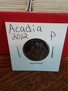NATIONAL PARK QUARTER ACADIA 2012 PHILADELPHIA MINT UNCIRCULATED