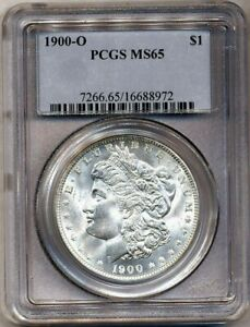 1900 O MORGAN PCGS MS 65 WHITE UNCIRCULATED SILVER DOLLAR COIN NEW ORLEANS MINT