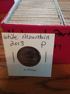 NATIONAL PARK QUARTER WHITE MOUNTAIN 2013 PHILADELPHIA MINT UNCIRCULATED