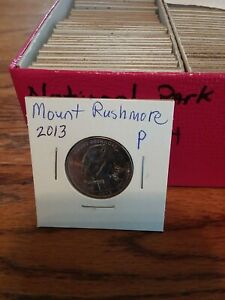 NATIONAL PARK QUARTER MOUNT RUSHMORE 2013 PHILADELPHIA MINT UNCIRCULATED