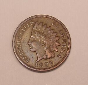 1887 INDIAN CENT XF   COMBINED SHIPPING  ..LOT5751