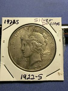 1922 S LIBERTY OR PEACE SILVER DOLLAR U.S. 90  SILVER BULLION COIN PRICED LOW