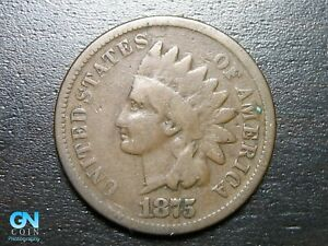 1875 INDIAN HEAD CENT PENNY      MAKE US AN OFFER   B2049