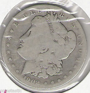 1902 S MORGAN SILVER DOLLAR  118 YRS OLD   DATE  LOW MINT VOLUME