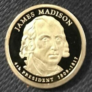 2007 S JAMES MADISON PRESIDENTIAL CAMEO PROOF DOLLAR