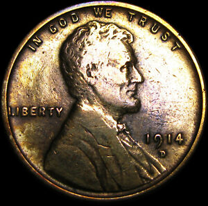 1914 D LINCOLN CENT WHEAT PENNY      NICE      A204