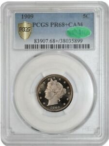 Click now to see the BUY IT NOW Price! 1909 LIBERTY 5C PR68 CAM PCGS SECURE CAC 942107 1   NONE FINER IN ANY DATE